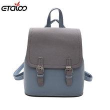 c7ae239cfb8e Винтажный рюкзак женский брендовый кожаный женский рюкзак большой емкости  школьная сумка для девочки Досуг сумка на