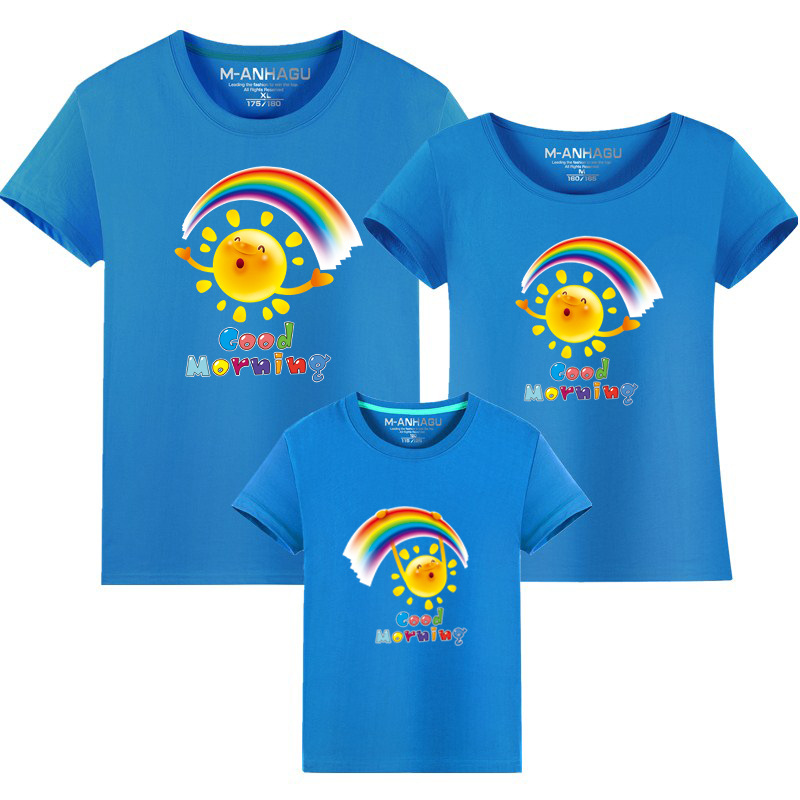 Summer Family Matching Outfits T shirt Mom Dad Son Daughter Rainbow T Shirts Family Mother Father Kids Matching outfits Tees (11)