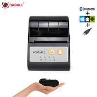 Imprimante portative de billet d'imprimante de poche d'imprimante thermique de Mini Bluetooth de 58mm pour l'imprimante mobile d'android/iOS POS ESC/position