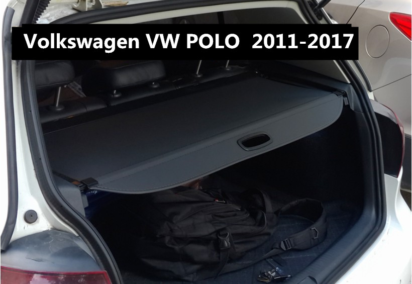 Car Rear Trunk Security Shield Cargo Cover For Volkswagen VW POLO 2011.12.2013.2014.2015.2016.2017 High Qualit Auto Accessories car rear trunk security shield cargo cover for dodge journey 5 seat 7 seat 2013 2014 2015 2016 2017 high qualit auto accessories