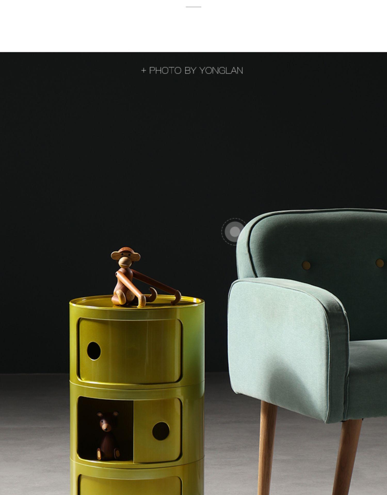 3 слоя Nordic АБС пластик детская прикроватная тумбочка ABC простой современный шкаф для хранения Творческий Многослойные журнальный столик - 6