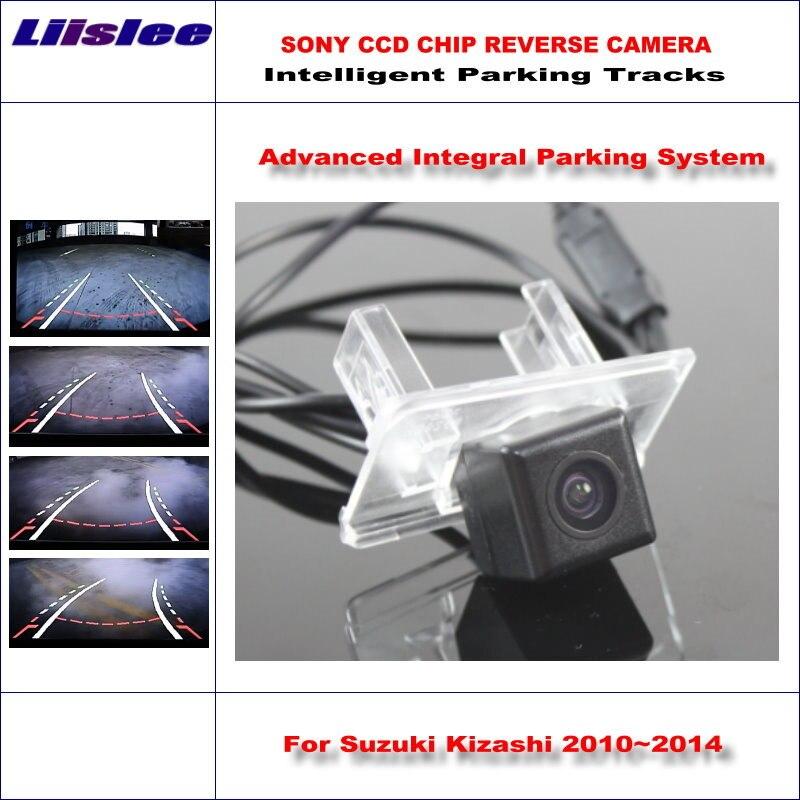 Liislee Arrière Caméra Pour Suzuki Kizashi 2010 ~ 2014 Intelligent Parking Pistes De Sauvegarde Inverse/Dynamique de Déchargement Tragectory