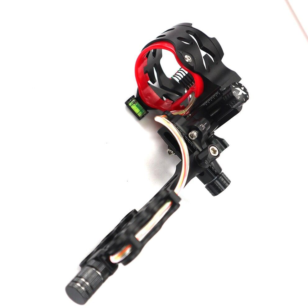 AXT X 5  pin bow sight Compound Bow Micro-Adjust 2/'/' HD Fiber Guard Micro LED