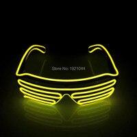 2017 New 100pcs EL Wire Fashion LED Lighting Flashing Shutter Shaped Glasses For Costume Dance Festival