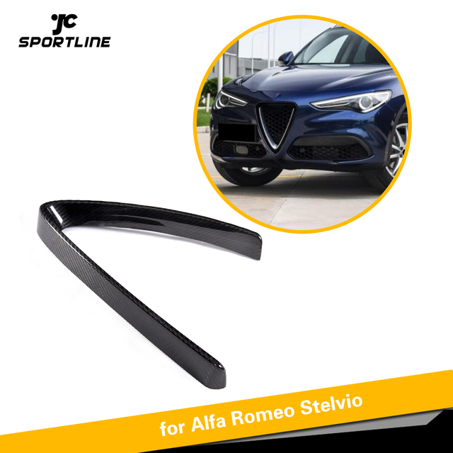 Carbon Fiber Front Grill Mesh Frame Cover For Alfa Romeo Stelvio