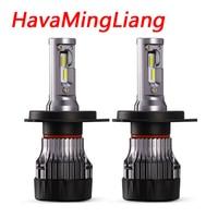 MINI Size H4 Led H7 Car Bulbs With Removable Cooling Fan Led H4 H7 Headlight Bulbs