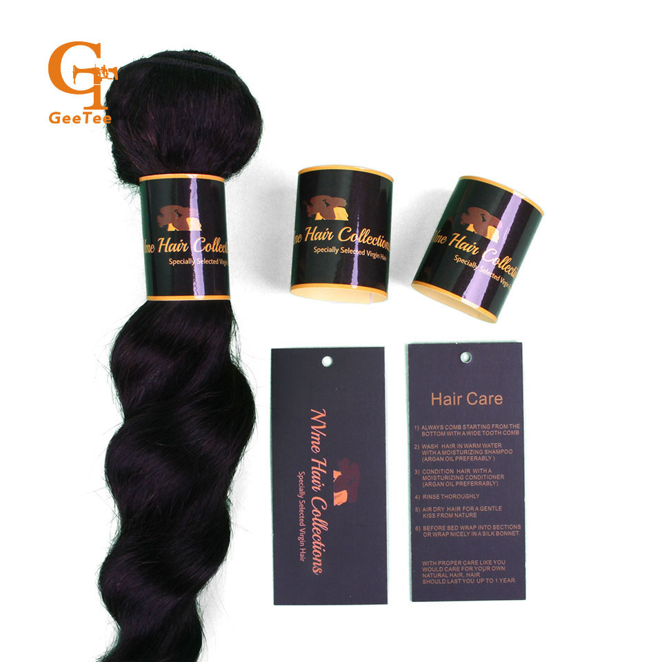 Custom Shop Name Human Virgin Hair Budle Wrap Self