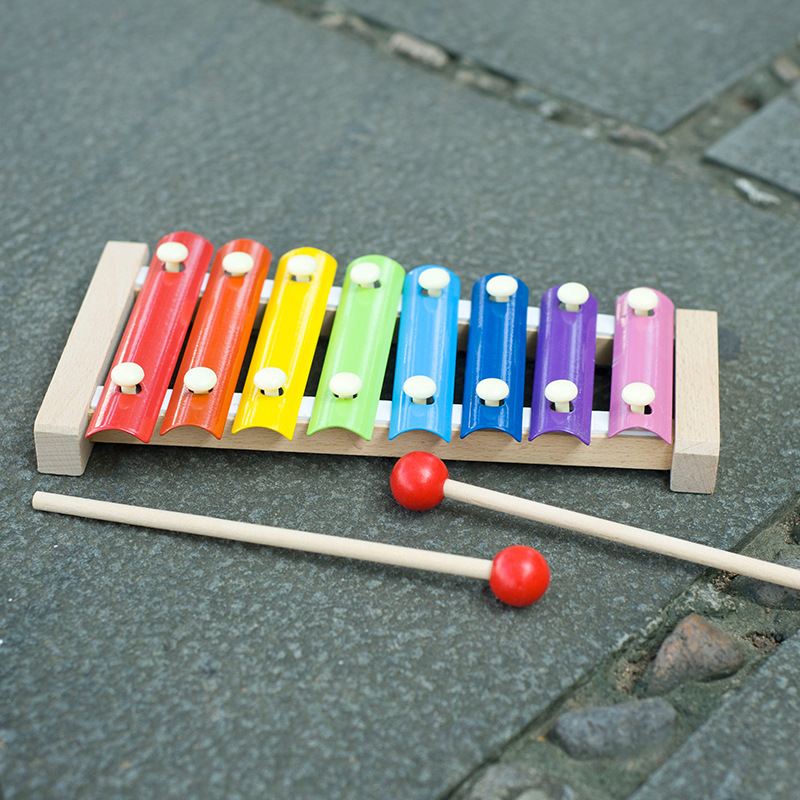 Ahtapot kayın el çaldı ksilofon Orff çocuk erken çocukluk müzik öğretim yardımcıları eğitici oyuncaklar çocuk oyuncakları