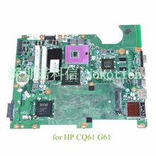 DA00P6MB6D0 513758-001 For HP CQ61 G61 Laptop motherboard DDR2 PM45 Nvidia N10M-GE2-S graphics