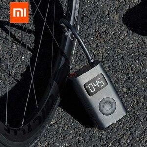 Image 2 - Orijinal Xiaomi Mijia taşınabilir akıllı dijital lastik basıncı algılama elektrikli şişirme pompası bisiklet motosiklet araba için futbol