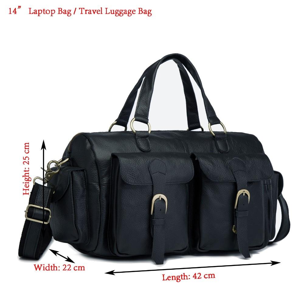 Men Original Leather Fashion Business Briefcase Messenger Bag Male Design Travel 14