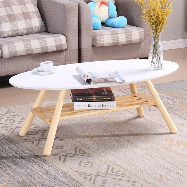 Mid Century Modern Oval Wood Center Table Living Room Furniture - contemporary tables for living