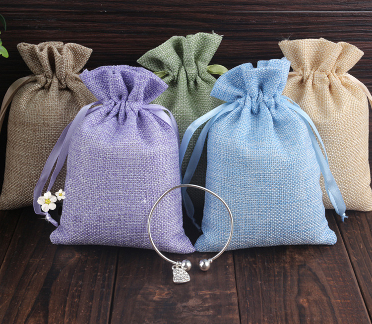 20 30 30pcs Mixed Jute Drawstring Sacks gift bags with jewelry Accessories Cosmetic wedding christmas Linen