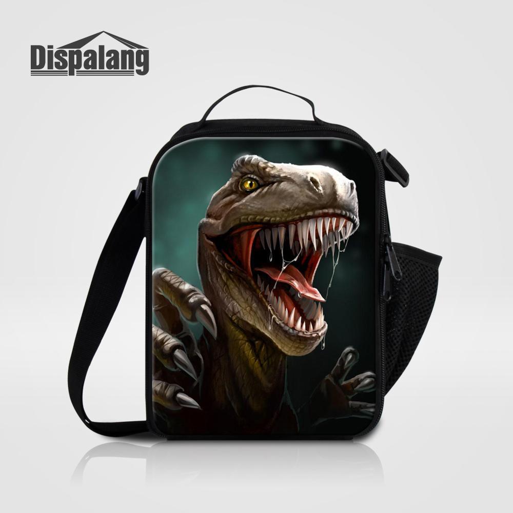 Мужские Термо-холщовые сумки для ланча, лисы, волка, динозавра, змеи, для мальчиков, сумка-холодильник для еды, пикника, Детская маленькая сумка-Ланч-бокс на молнии для школы - Цвет: Lunch Bag18