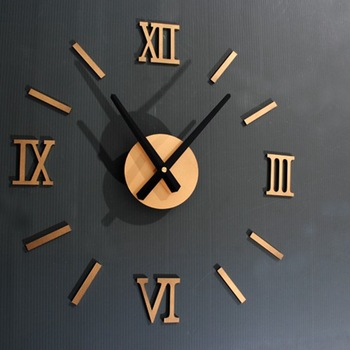 45X45cm Roman Numer 3D Watch Acrylic Mirrored Digital Wall Clock For Living Room Modern Design DIY Home Decor 1