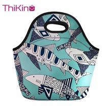 Thikin Cartoon Lunch Bags for Kids Children Insulated Thermal Box Food Bag Women Golden Retriever Picnic Travel Handbag