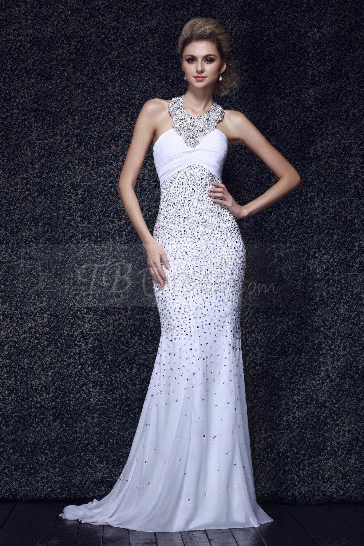 Online Get Cheap White Halter Evening Gown -Aliexpress.com ...