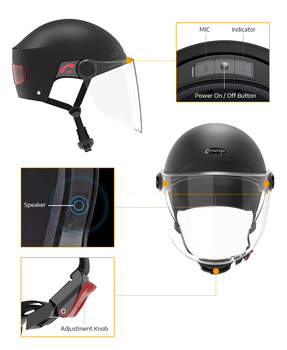 Smart4u E10 Motor Helm Bluetooth Elektrische Headset Bike Schutz Gears IPX4 Wasserdichte Intelligente Mit 8 Öffnungen Design