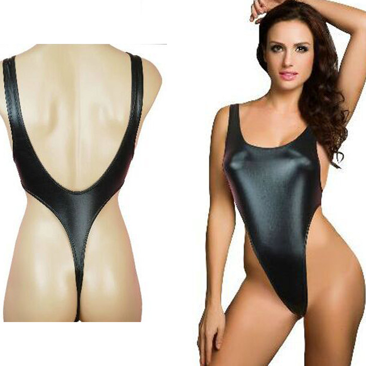 Patent Leather Foreign trade sexy underwear European and American women lingerie