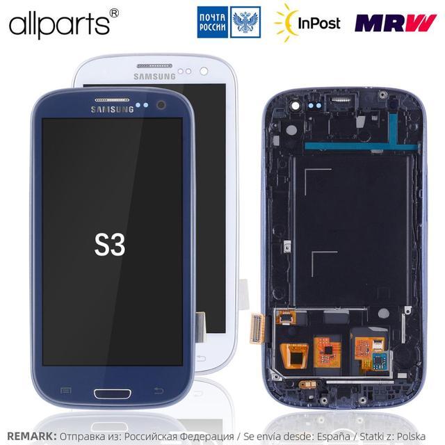 I9300i i9300 شاشات LCD لسامسونج غالاكسي S3 شاشة عرض مع الإطار قطع غيار سامسونج غالاكسي S3 LCD i9301 i9308i i9301i #2