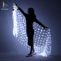 Живота светодио дный белый Шелковый Вуаль Седа загорается интимные аксессуары мигающий для женщин мужчин сцены как подарок