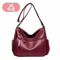 Korean New Suede Bag Leather Women Luxury High Quality Do Old Messenger Bag CrossBody Bag Lady Handbag Causal Travel Clutch