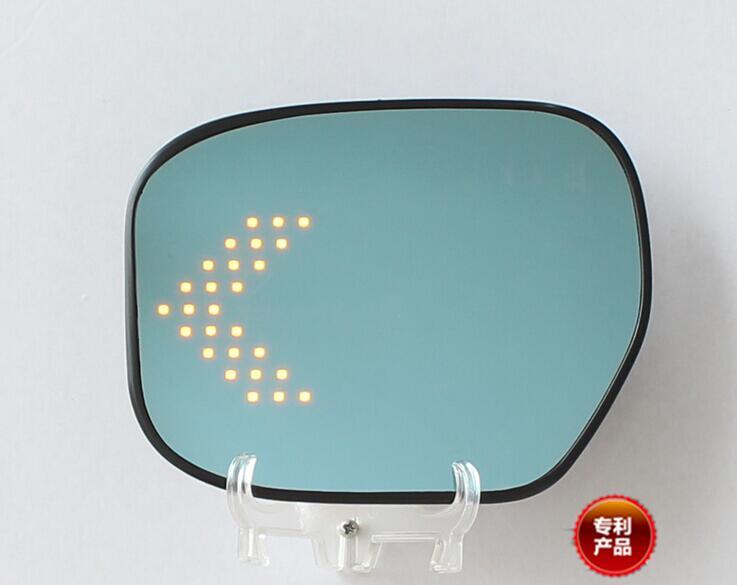 LED chauffage arrière clignotant bleu courbure anti désembuage éblouissant rétroviseur pour Honda CITY 09-14/15-17
