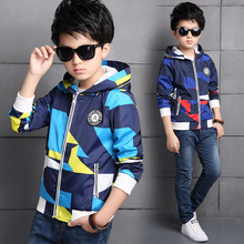 2017 Spring fall fashionable classic children s casual jacket boy geometric print circular label letter tops