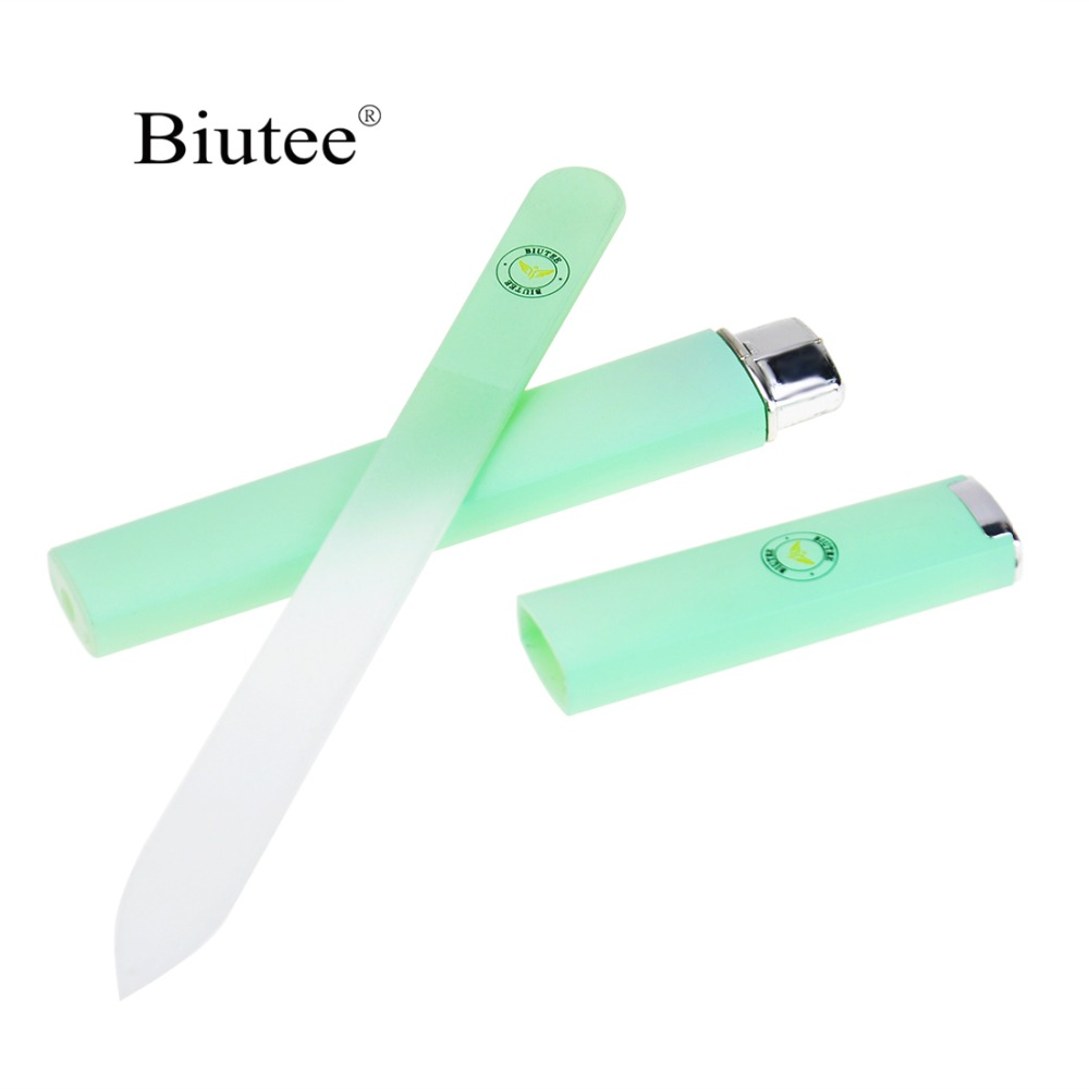 1 Pcs Crystal Glass Nail File  Professional Manicure Device Tool Durable Nail Art Buffer Files Green/Pink/Sliver