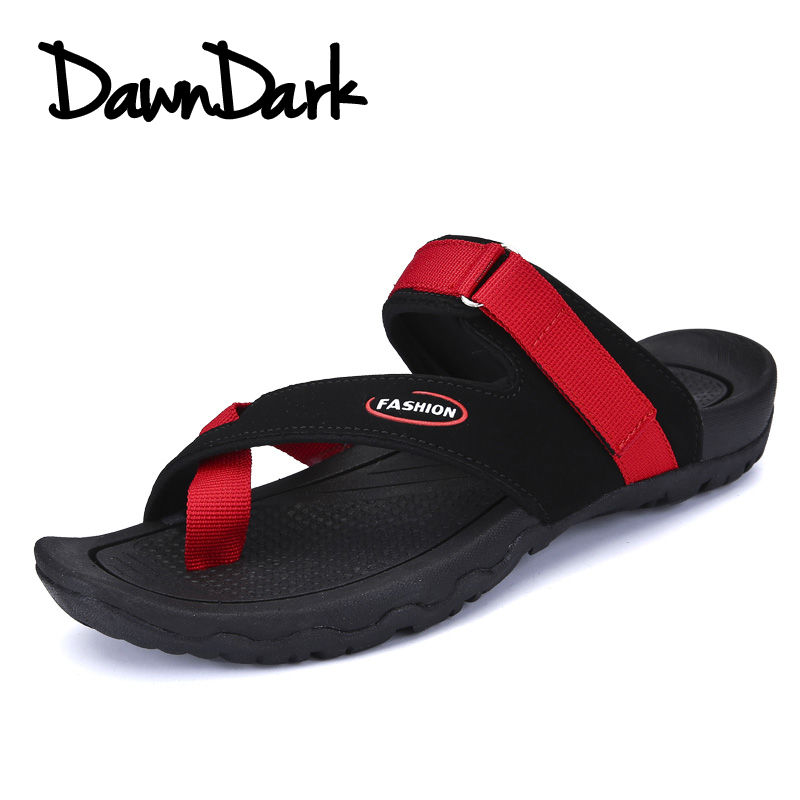 2018 New Fashion Summer Men Sandals Slip on Man Leisure Beach Canvas Shoes Outdoor Beach Red Black Male Casual Flat Sneakers