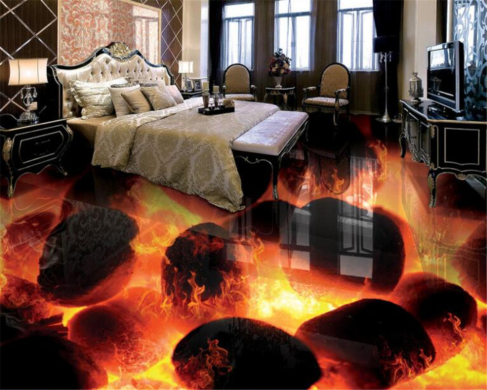 beibehang High Fashion Wallpaper stone burning fire bathroom living room floor tiles 3D stereo painting wallpaper for walls 3 d xeltek private seat tqfp64 ta050 b006 burning test