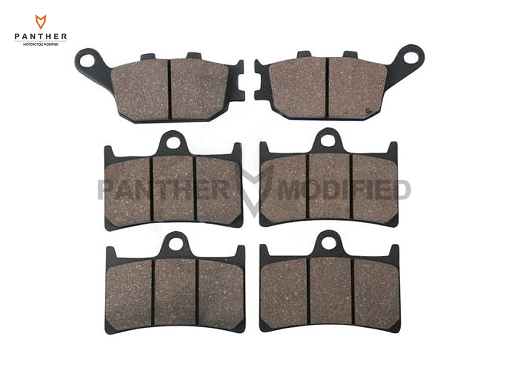 ФОТО 6 Pcs Semi-Metallic Motorcycle Front & Rear Brake Pads case for YAMAHA FZ8 2010- YZF 1000 R1 YZFR1 2004-