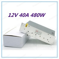 DC12V 40A 480W Switching Power Supply Driver Transformer For LED Light Display CNC 3D Print LCD Monitor CCTV
