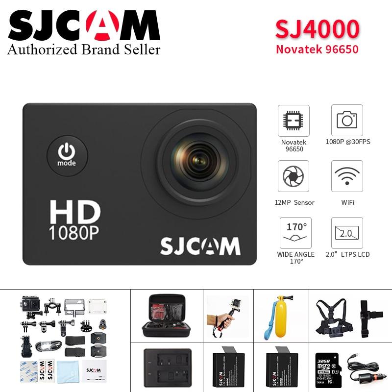 D'origine SJCAM SJ4000 Camera Action 2.0 pouce Sport DV 1080 P HD plongée 30 M aller Étanche pro yi mini Caméscope SJ 4000 Cam DVR