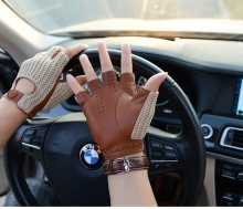 Men genuine leather gloves male sheepskin machinist driving men driver
