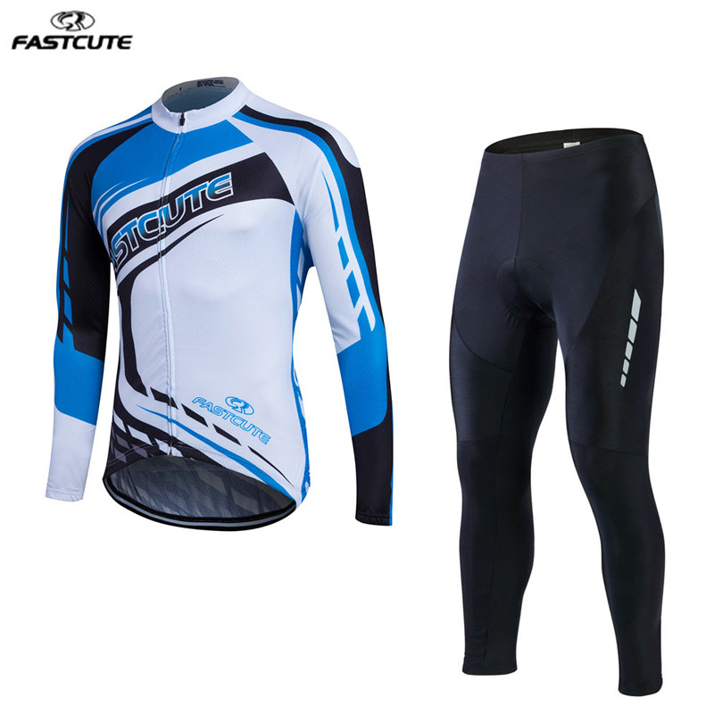 2017 Fastcute cycling jersey hombre spring Ropa ciclismo long Sleeve cycling clothing outdoor sport maillot ciclismo 9D Pad 2017 spring summer cycling jersey women long sleeve mountain biking jerseys shirt outdoor sports clothing ropa ciclismo santic