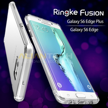 100% Original Ringke Fusion Case for Samsung Galaxy S6 Edge / Samsung Galaxy S6 Edge Plus / S6 Edge+ Clear Back Cover Cases