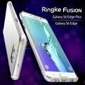 100% original ringke fusión caso para samsung galaxy s6 edge/samsung galaxy s6 edge plus/s6 edge + cubierta transparente de nuevo casos