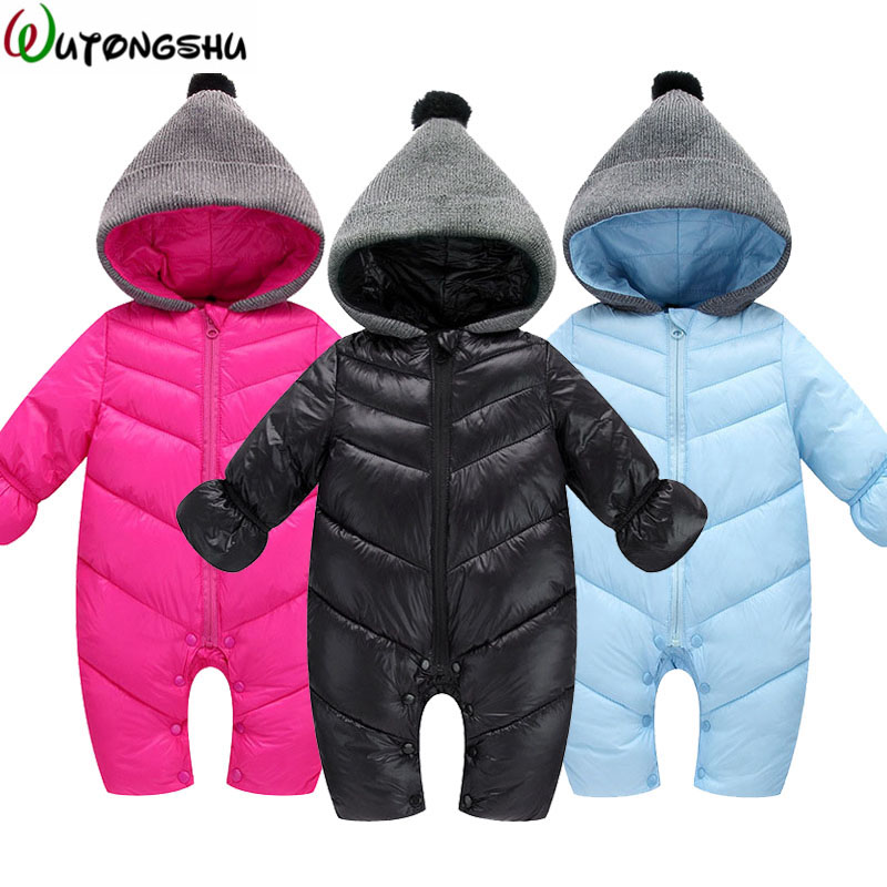 Newborn Baby Rompers Warm Baby Boy Girl Clothes Autumn Winter Cotton Infant Jumpsuit Long Sleeve Rompers Costumes Baby Romper цена 2017