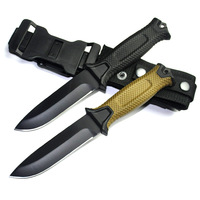 Fixed Blade Knife 12c27 Steel Fiberglass Handle ABS Nylon Hunting Knife Camping Knives 4 Model