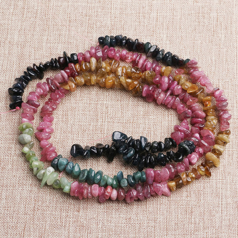 """Multi Color Freeform Tourmaline Stone Beads For Jewelry Making Loose Beads 15/"""""""