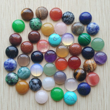 2020 موضة نوعية جيدة مختلطة الكابينة المستديرة كابوشون الخرز الحجر الطبيعي للمجوهرات اكسسوارات 12 مللي متر بالجملة 50 قطعة/الوحدة مجانية