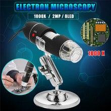 Best Buy 1000X Digital Electronic Microscope 8 LED USB2.0 Biology Endoscope Biological Zoom Camera Bracket Hand Held Stand