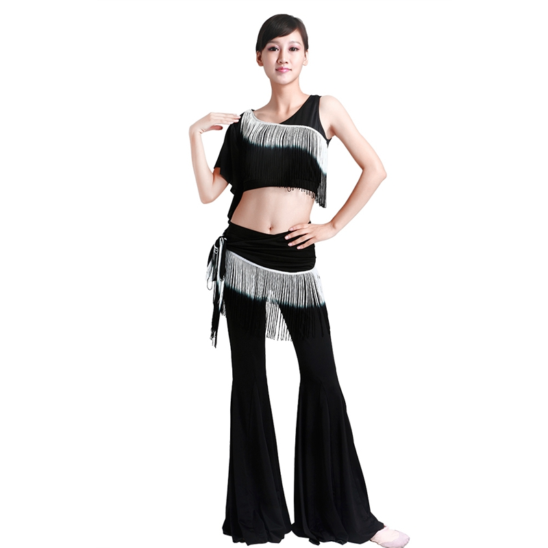 Women's Belly Dance Top And Pants And Belt Costume Set Indian Dance Performance Practice Clothes 2015 New Arrival Sex Products