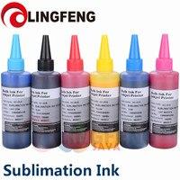 Sublimation Ink Heat Transfer Ink For EPSON Inkjet Printer (6 colorx100ml)