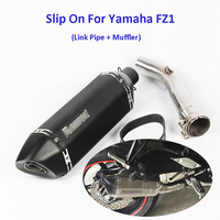 FZ1 Motorcycle Carbon Fiber Exhaust Pipe Middle Mid Link Connect Tube Slip On Whole Set Pipe For Yamaha FZ1
