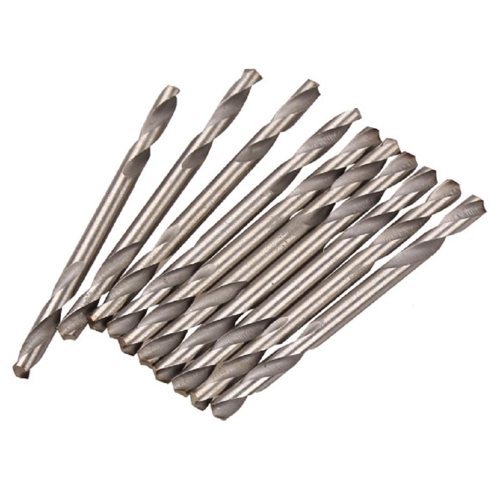 10pcs 3.2mm Dia. HSS Double Ended Spiral Drill Bits Twist Drill Tools Set 13pcs lot hss high speed steel drill bit set 1 4 hex shank 1 5 6 5mm free shipping hss twist drill bits set for power tools