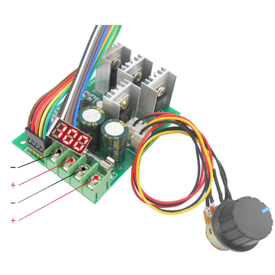 Electrical Equipments & Supplies Home Improvement Pwm Dc Motor Speed Controller Digital Display 0~100% Adjustable Drive Module 6v~60v Input Max30a