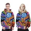 New Arrival 2016 Brand Long Sleeve Skateboard Hoodies Men HipHop Sweatshirts 3D Printed Women Couples Tops Hooded 3D Printing