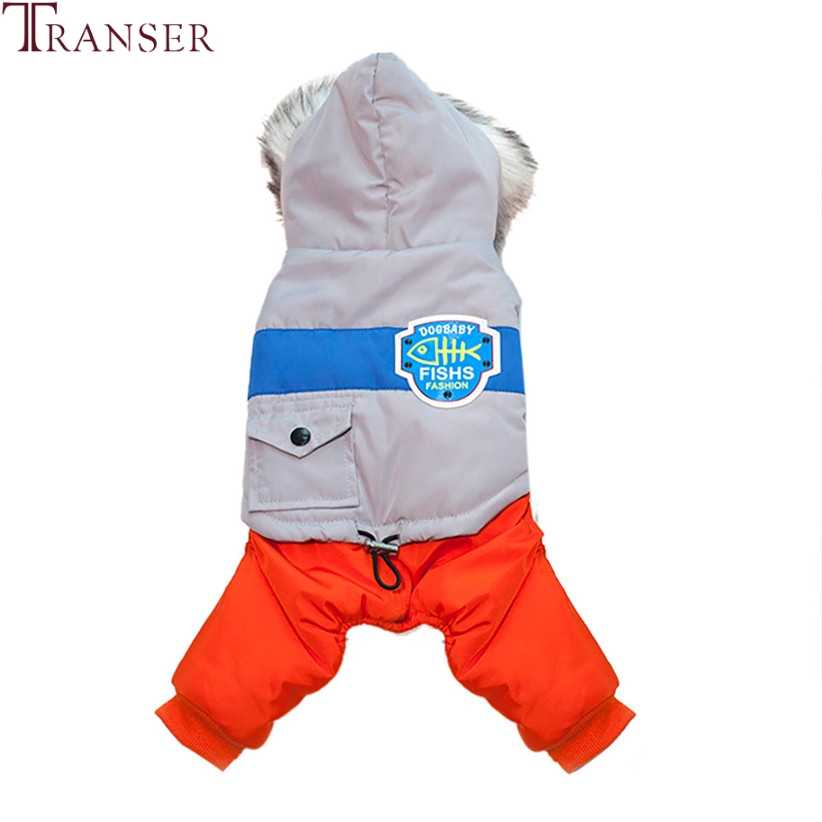 Прямая доставка синие комбинезоны для собак холодный зимний ветрозащитный Теплый Одежда для собак Мужская куртка с капюшоном собачья Попона 80919